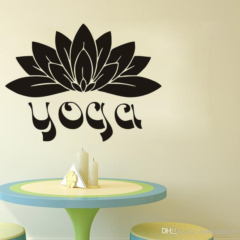 Großhandel Yoga Wandaufkleber Blumen Vinyl Aufkleber Wohnkultur Namaste  Lotus Wandtattoos Schlafzimmer Wandkunst Wandbilder Von Moderndecal, $5.36  Auf ...