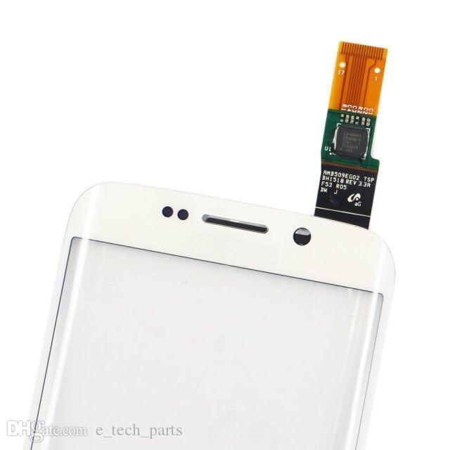 Samsung Galaxy S6 Kenar G9250 G925F Için dokunmatik Ekran Digitizer G925V Logo ile G925P Ön Dokunmatik Sensör Cam Ekran Lens Paneli Değiştirme