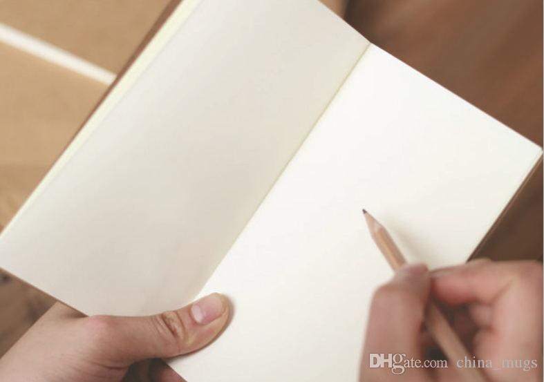 كرافت ورقة دفتر اليد نسخة الغلاف دفاتر فارغة غرزة المفكرة كرافت تغطية الدفاتر اليومية ورقة مجلة قرطاسية