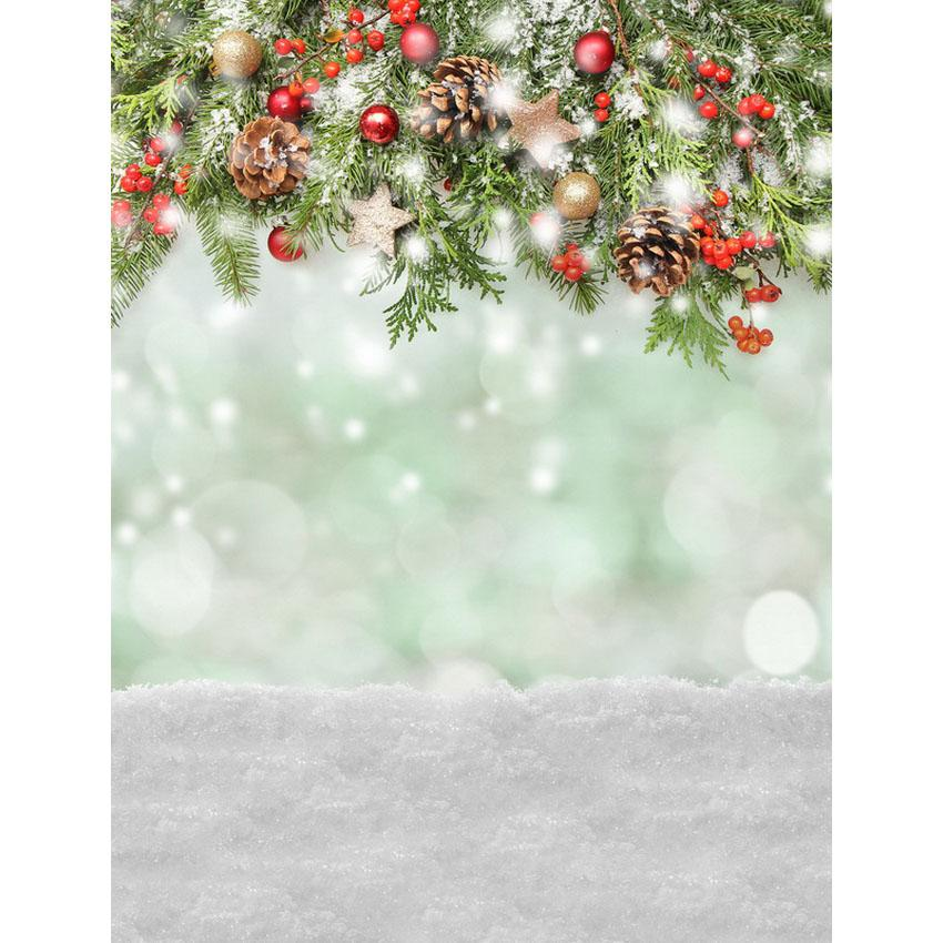 Bevorzugt 2019 5x7ft Vinyl Christmas Winter Snow Pine Core Photography BO24