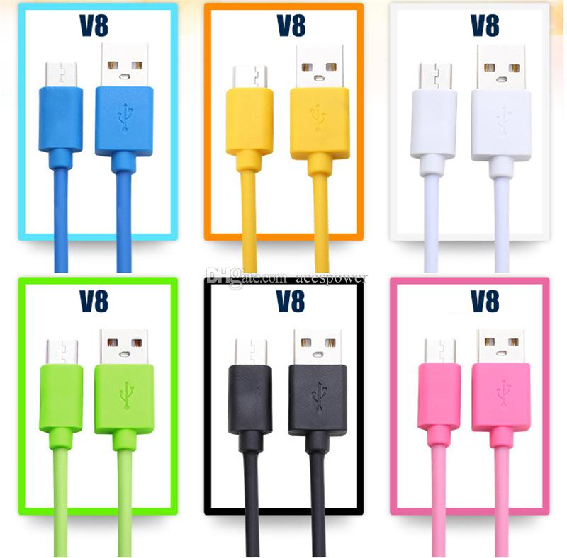 Tipo C Micro V8 PARA Nota 20 S20 de carga USB cable de 1m 2m 3m 3 pies 6 pies 10 pies de tipo C de carga rápida para Android One Plus