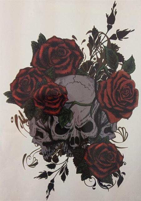57bf52c57ecfb Wholesale NEW TATTOO Three Skull And Rose Temporary Tattoo Stickers#16 Buy Fake  Tattoos Create A Tattoo Free Online From Mnyt, $18.8| DHgate.Com