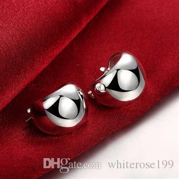 도매 - 최저 가격 크리스마스 선물 925 스털링 실버 패션 귀걸이 E116