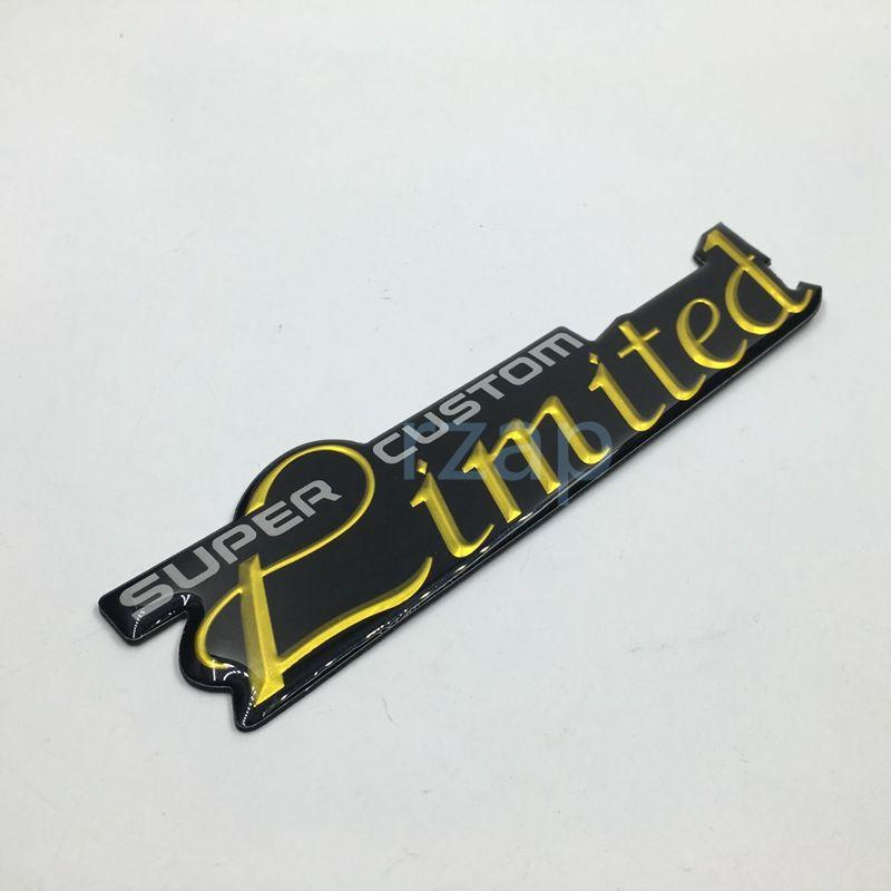 Car styling super custom limited emblem logo badge nameplate decal auto body decorate universal abs sticker limited limited sticker car emblem online with