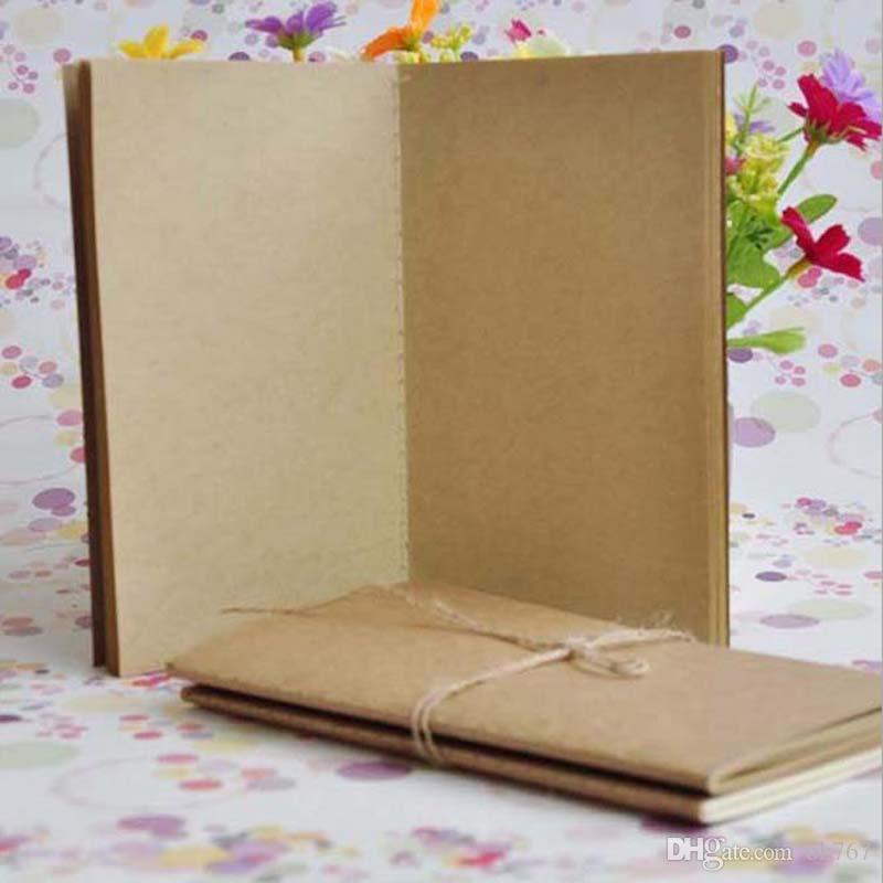Rindsleder Papier Notizbuch leer Notizblock Buch Jahrgang Kraftpapier Leicht zu tragen Kleines Notizbuch Graffiti Skizze Kreativ Einfaches Briefpapier