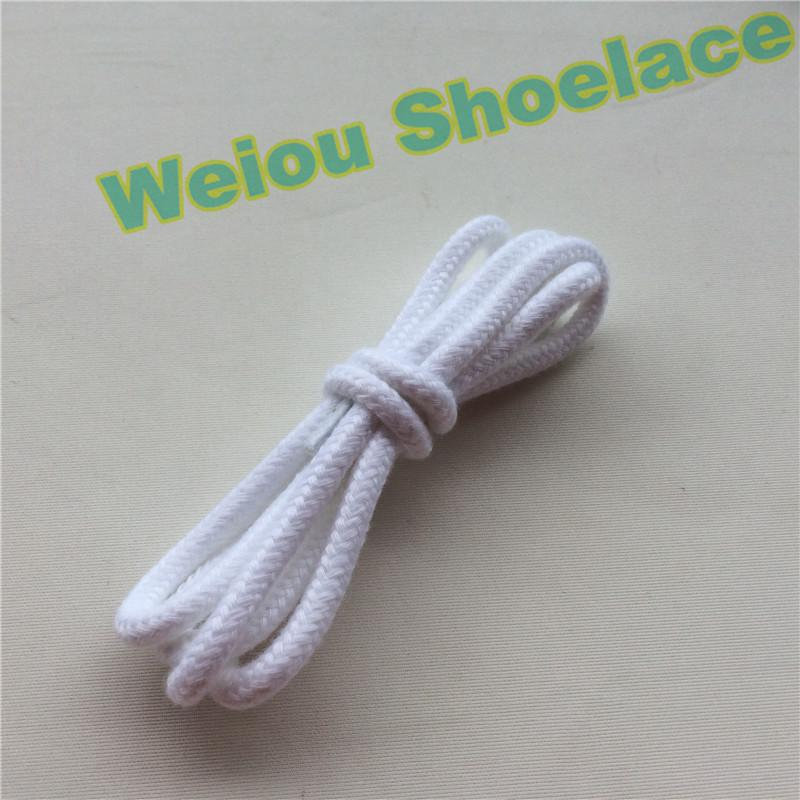 Wellace Fashion Black White Round Rope Cotton Shoelaces Sport Dress Shoe Laces for Sneakers Basketball Shoelaces Custom Design