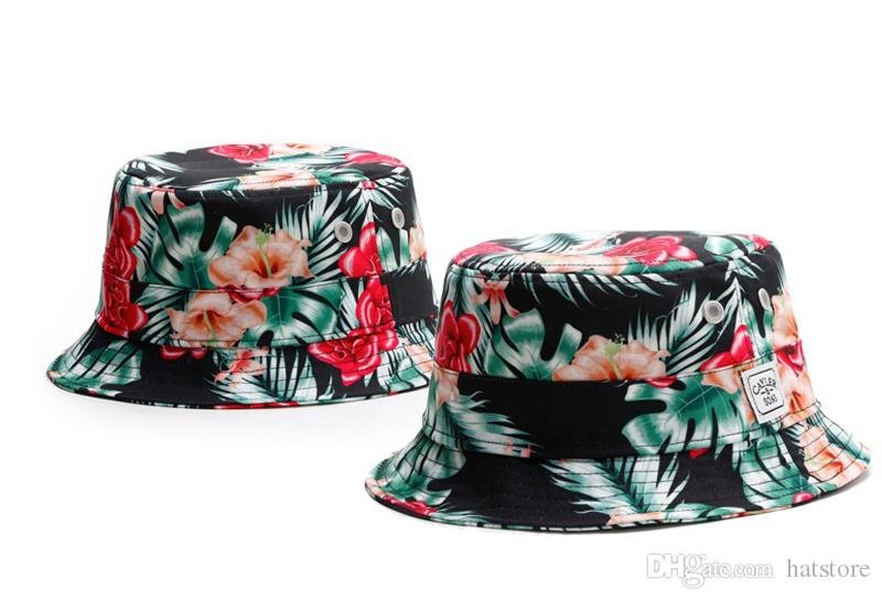 e4144326b1d 2019 New Designer Floral Cayler   Sons Bucket Caps For Mens Womens Foldable  Fishing Caps Black Fisherman Beach Sun Visor Sale Man TYMY 10 From  Hatstore
