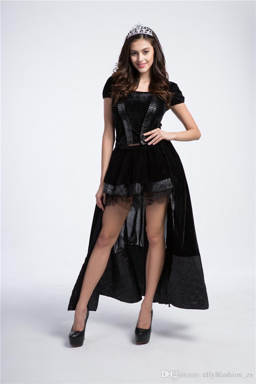 Conto de fadas Princesa Bruxa Role Playing Game Uniformes Tentação Halloween Rainha Carregado Cosplay Sexy Vestido