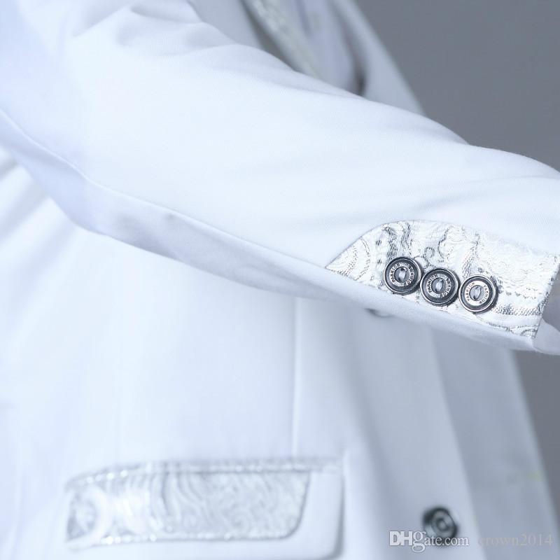 Erkekler Düğün Suit Yeni Boyut 2-10 Beyaz Boy Suit Örgün Parti Beş Bow Tie Pantolon Yelek Gömlek Çocuklar Suits Ücretsiz Kargo Stokta ayarlar
