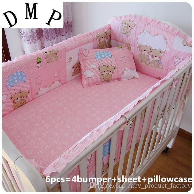 ¡Promoción! cuna juegos de cama cuna cuna juego de cama ropa de cama de bebé, incluyen 4 álbumes + hoja + funda de almohada