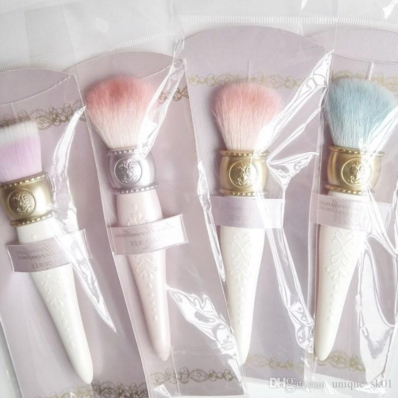 Laduree Makeup Brushes Les Merveilleuses De Blushe brush Antique Lady Style White Wooden Handle Goat Hair Powder Foudation brushes DHL Free