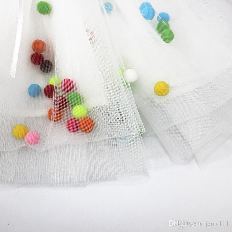 Pettiskirt Renkli Ballslu Bebek Tutu Etek Bebek Kız Prenses Şerit Tutuş Saia Tutu Kabarık Etekler 1-4Yıl LC463