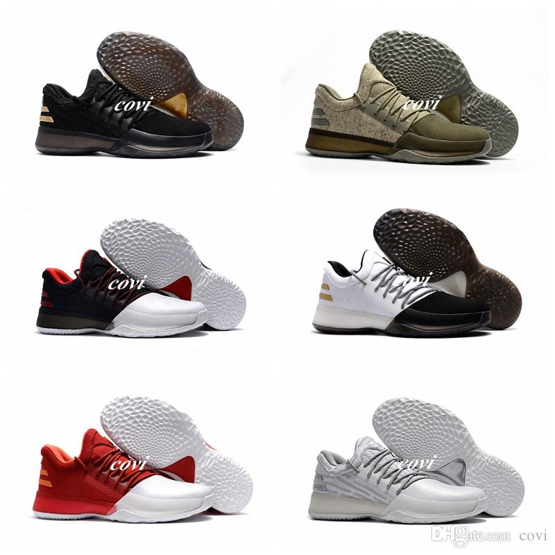 03f4677c213f Latest James Harden Vol.1 Black History Month White Orange Gold Mens  Basketball Shoes Sneakers