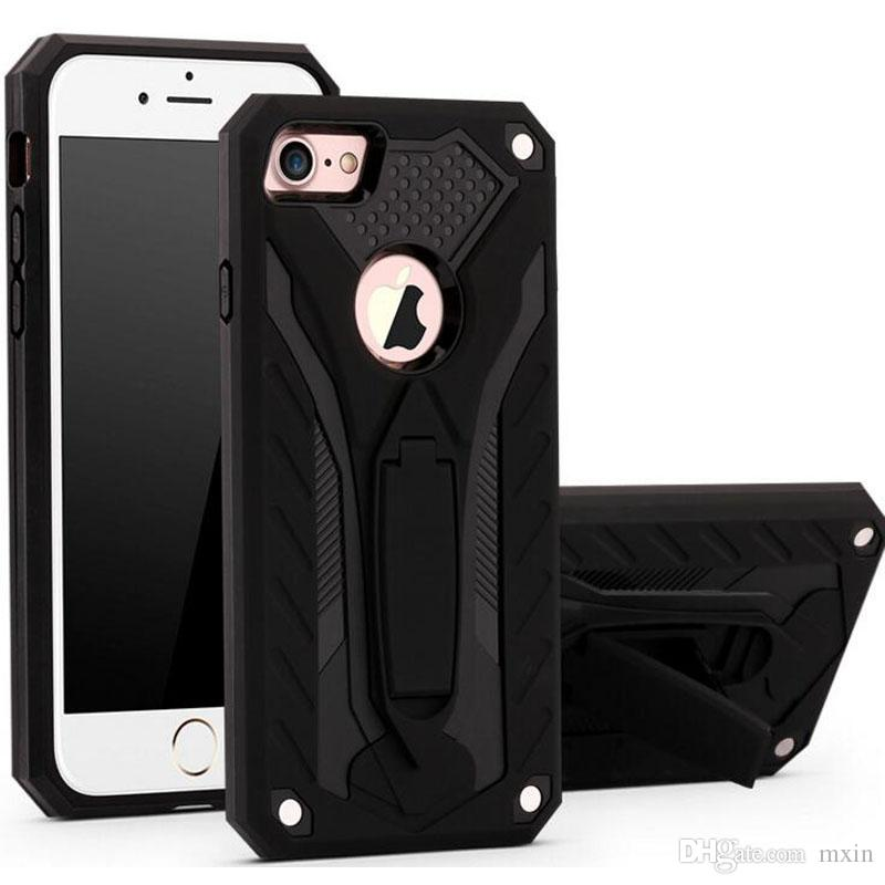 Phantom Chevalier Shockproof Hybrid TPU PC Rubber Impact Armor Case For iPhone X XR XS Max 8 7 6 Samsung S8 S9 Note 9 J4 J6 Plus J8 2018
