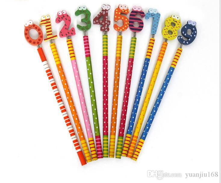 Ensemble de papeterie crayons Kawaii en bois crayon en bois pour enfants ensemble cadeau enfant G879