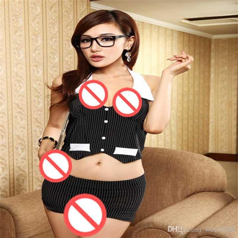 送料無料秘書OLベストウェア制服誘惑セクシーな下着透明スカートセクシーな秘書スーツ