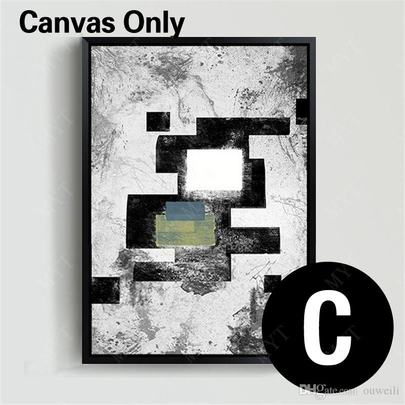 Hand painted simple 9 design a set of abstract oil painting in high quality for home decor canvas art abstract modern