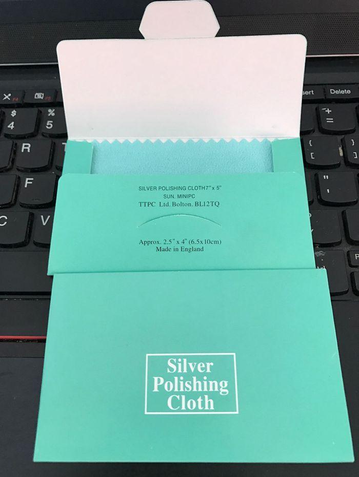 Epackfree prata polonês 10x7 cm pano de limpeza pano de limpeza pano de limpeza de prata pano de limpeza de jóias de camurça de prata