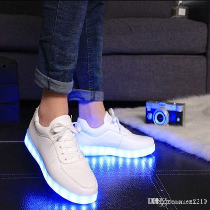 a82c45ef90f Nice Women Colorful Glowing Shoes With Lights Up Led Luminous Shoes A Pop  Simulation Sole Led Shoes For Adults Neon Basket Led Ex Skechers Shoes Mens  Dress ...