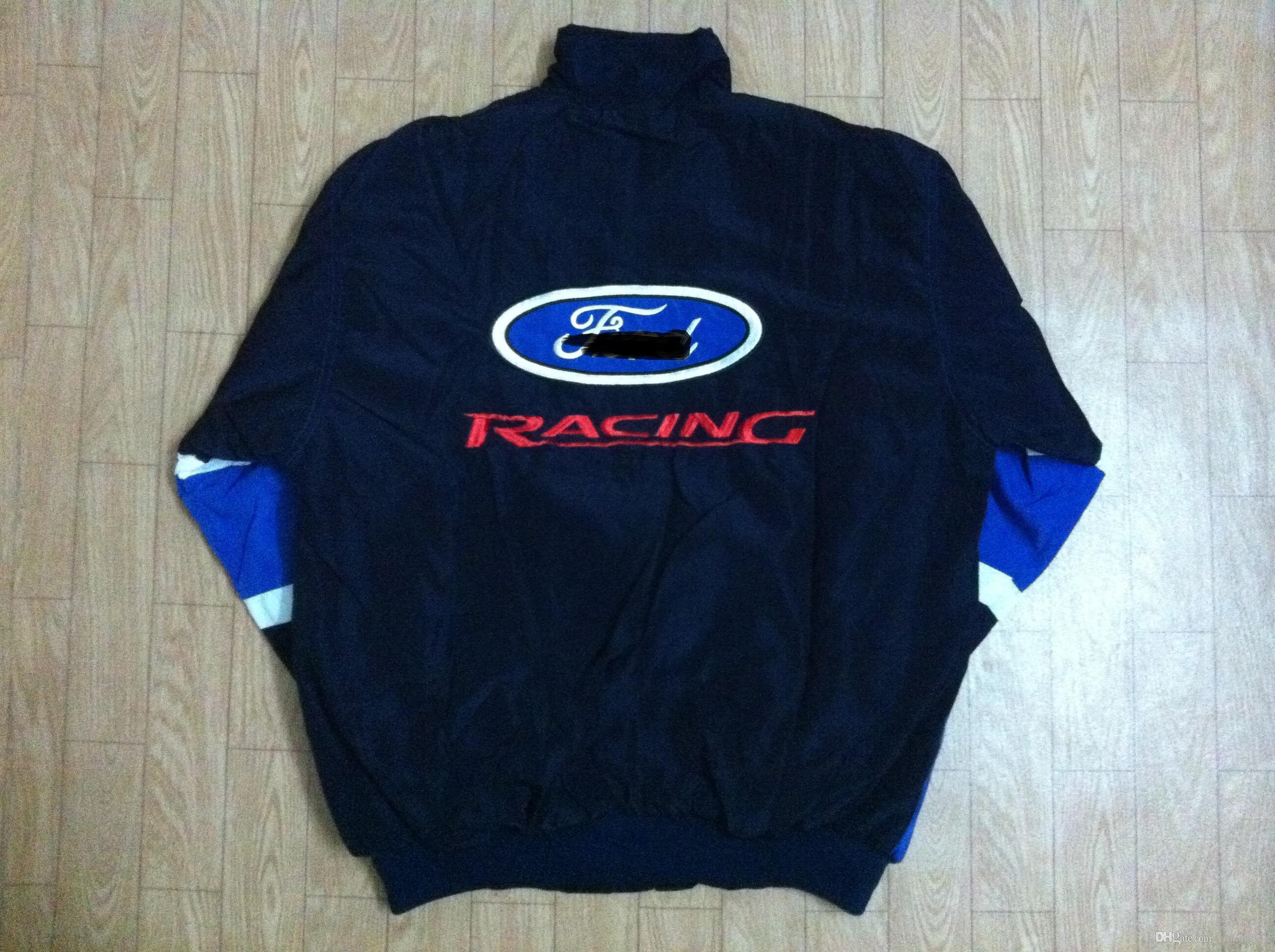 Ricamo nuovo F1 FIA NASCAR IndyCar V8 Supercar MOTO GP Giacca in cotone da corsa Giacca moto da pilota f1 MOTO RACING GIACCA moto antivento