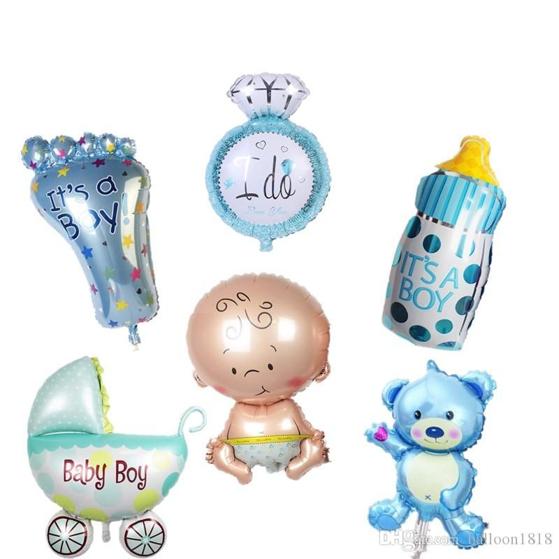 mini balloon baby shower party foil baby boy girl balloons Birthday Party Decoration baloes de festa