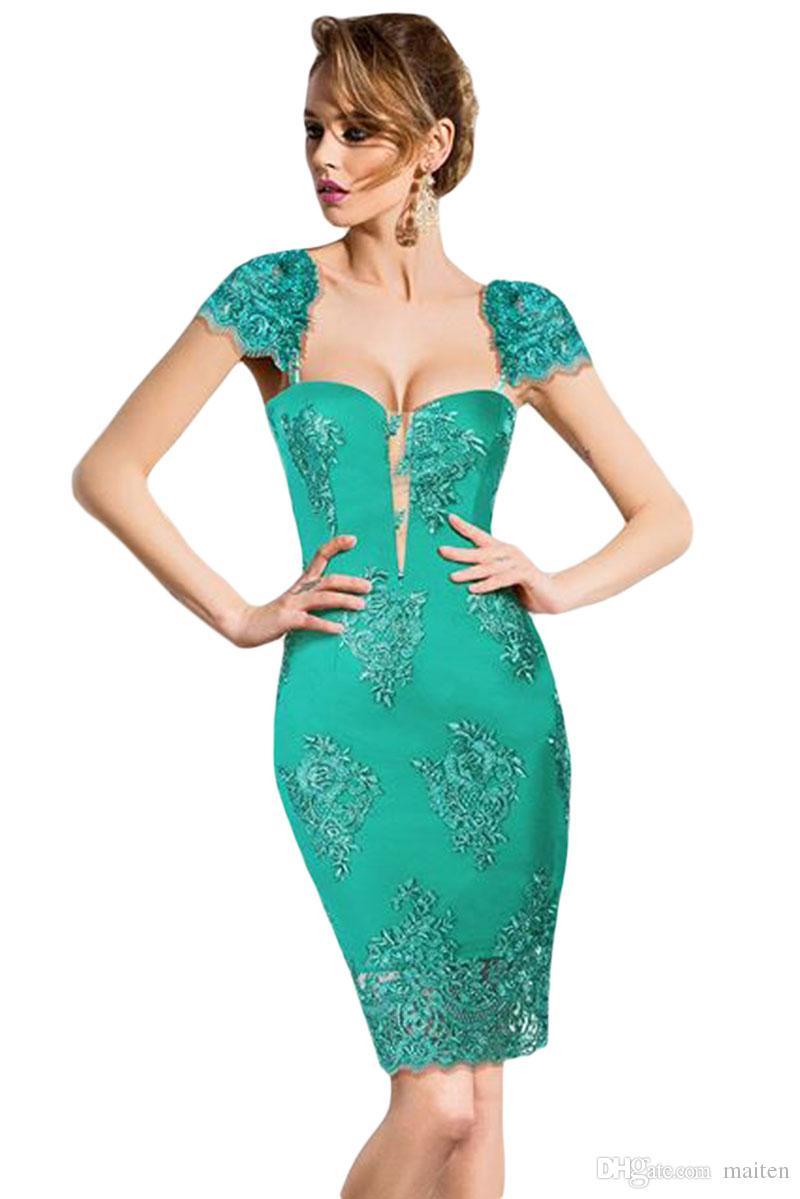 Großhandel Party Kleider 2017 Elegante Sexy Damen Vintage Grün ...