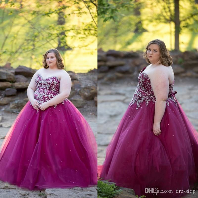 Sweet Plus Size Appliqued Prom Dresses Sweetheart Neckline