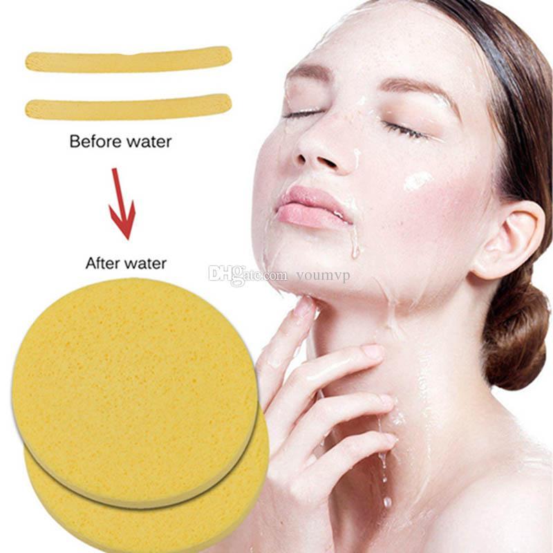 لينة مضغوط الإسفنج تنظيف الوجه الإسفنج غسل الوجه تنظيف الوسادة مقشر مستحضرات التجميل النفخة الوجه تنظيف النفخة J1729