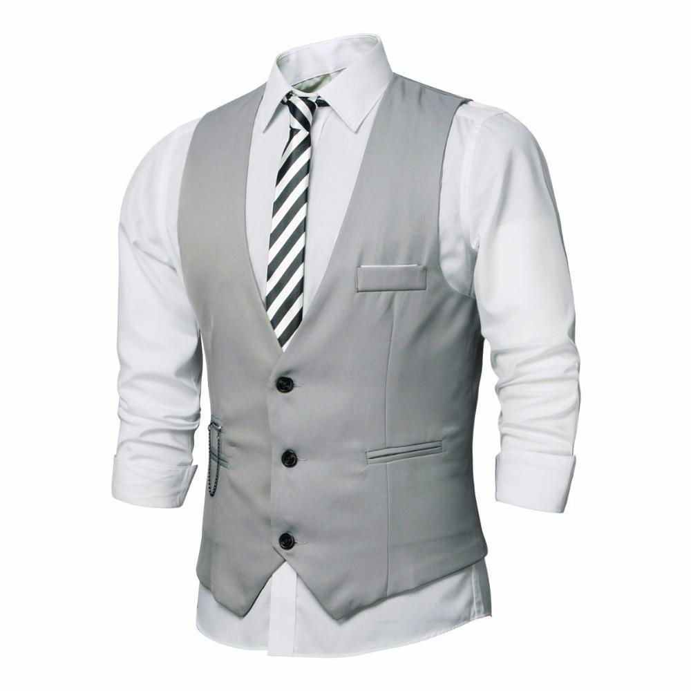 2017 Wholesale 2017 New Dress Vests For Men Slim Fit Mens Suit ...