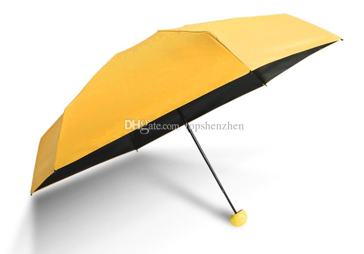 Qualitäts-Kapsel-Minitaschen-Regenschirm-freier Regenschirm der Männer windundurchlässiger faltender Regenschirm-Frauen-kompakter Regen-Regenschirm