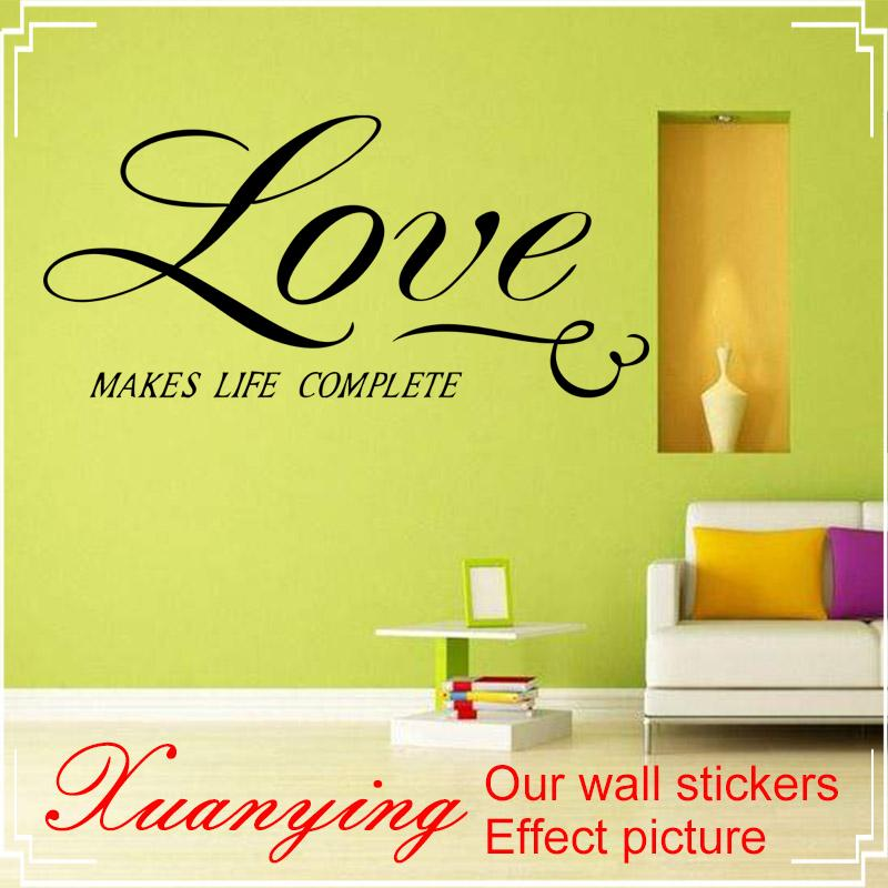 Love Life Wall Quotes Decal Stickers Decor Vinyl Diy Home Art Mural ...