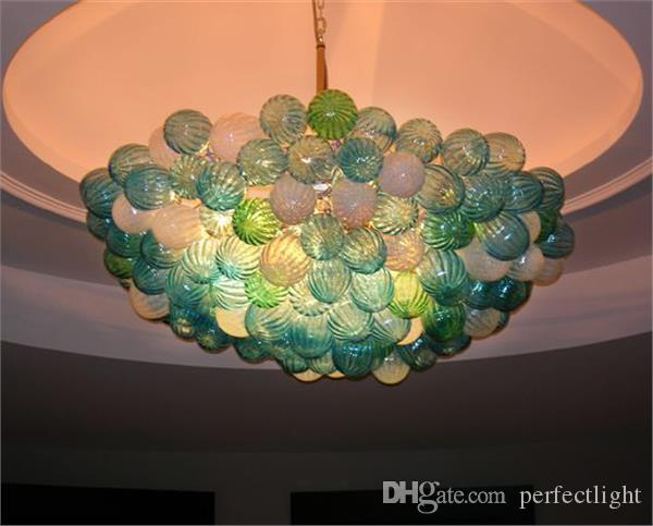 Well Designed Blown Glass Bubble Chandelier Modern Art Glass Crystal LED Small Chandelier for Home Decoration
