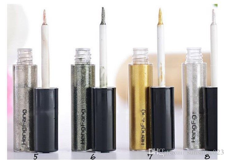 Hot New Shiny Liner Liner Glitter Sombra de ojos Liquid Shining Eyeliner Bronzer Gold Shimmer Maquillaje Maquiagem Envío gratis