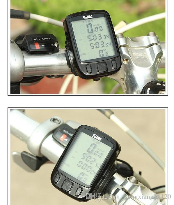 Black wired LCD display Multifunction Waterproof Bike Bicycle Cycling Computer Odometer Speedometer Touch Button Luminous