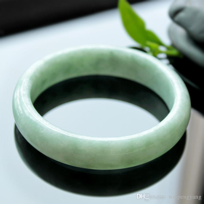 prix de détail suggéré de 50 $ Hot sales 100% New Natural jade Bracelet 12mm-15mm le diamètre de 52mm-65mm Livraison gratuite