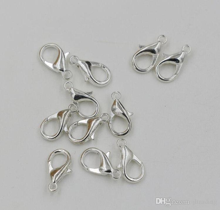 Nickle plated lobster clasps 10mm M362 jewerly findings jewellery accessories jewelry part for jewelry shop