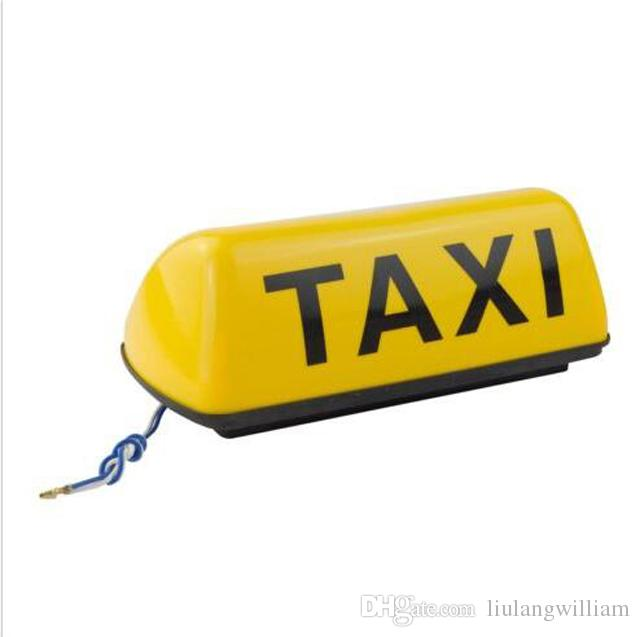 ZYHW Brand 12V Yellow Shell Taxi Cab Sign Roof Top Topper Car Yellow Bright  Taxi Top Light Lamp 11