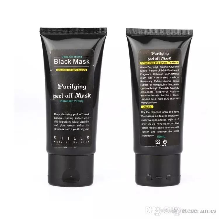 Shills Diepe reiniging Zwart Masker 50ml Blackhead Facial Mask 300 stuks Snelle verzending