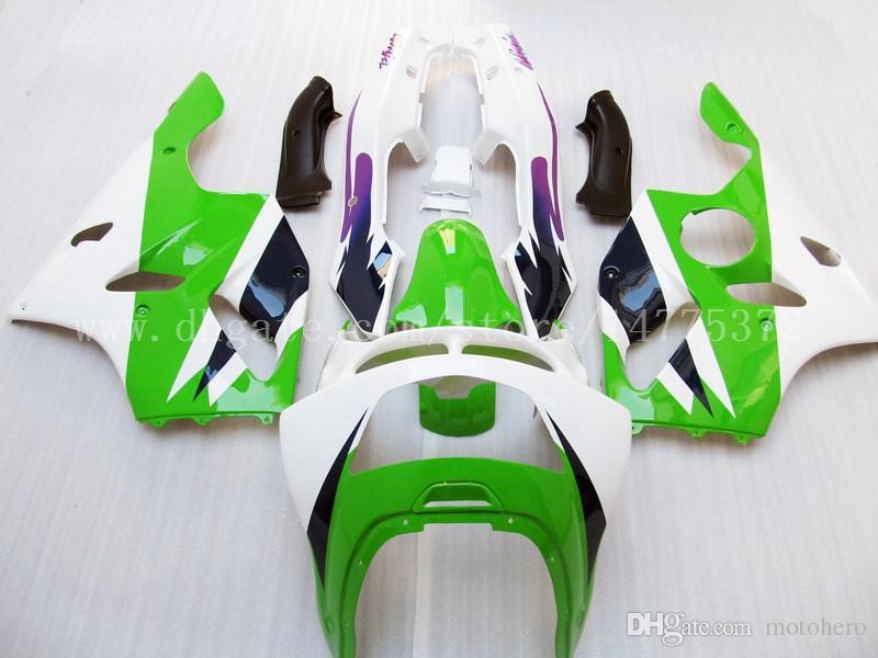 Carénages verts pour Kawasaki NINJA ZX 6R 94 95 96 97 ZX-6R 94-97 ZX6R 1994-1997 636 ZX636 1994 1995 1996 1997 Kit de carénage ABS # e73j7