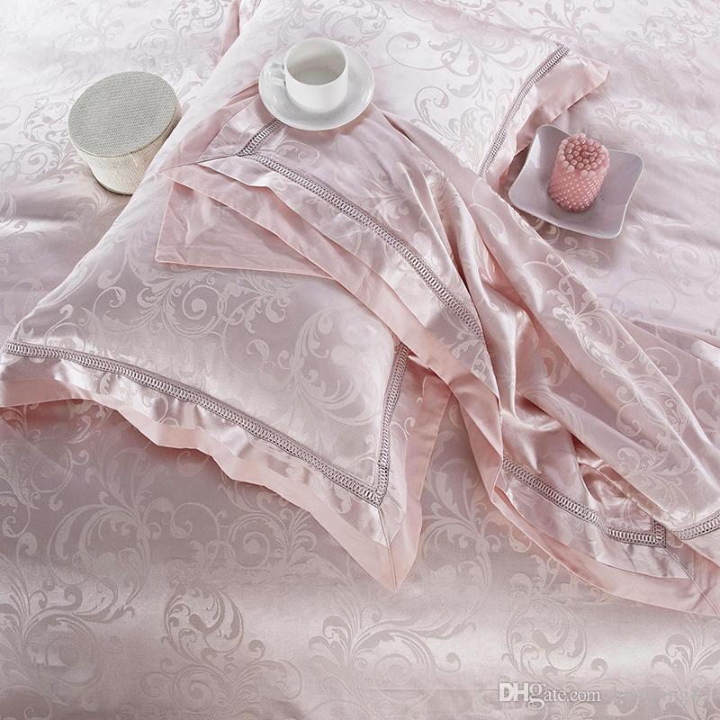 4/Jacquard Home Textile Bedding Set Luxury Silk Satin Quilt/Duvet Cover Queen King Size Bedclothes Bed Set Linen Cotton