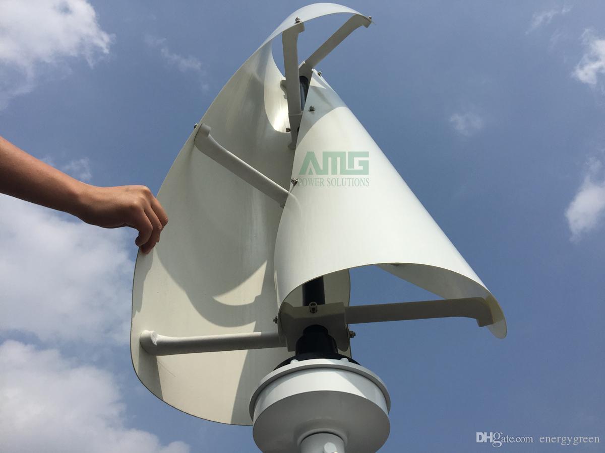 600W 12V / 24V Asse verticale Asse elicoidale Residentail Kit generatore eolico domestico Aerogeneratore Generatore a basso numero di giri 1.3m / s Vento di avviamento