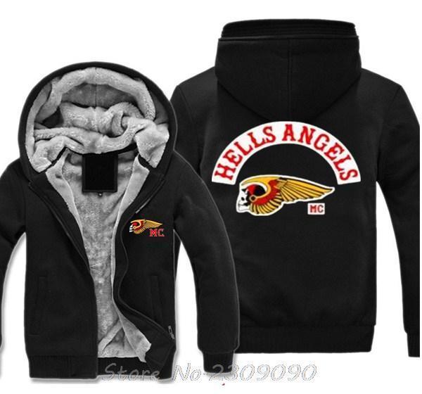 2018 Wholesale Hells Angels Support 81 Winter Hoodies ...