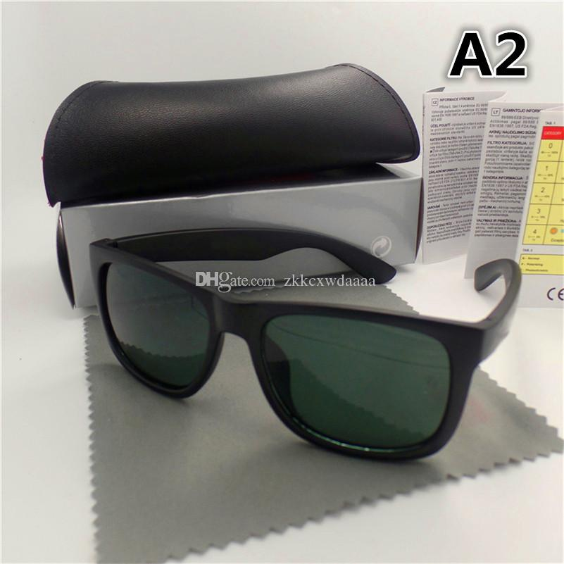 La alta calidad del marco grande de la manera gafas de sol para hombres y mujeres deporte de la vendimia Gafas de sol con caja y la caja