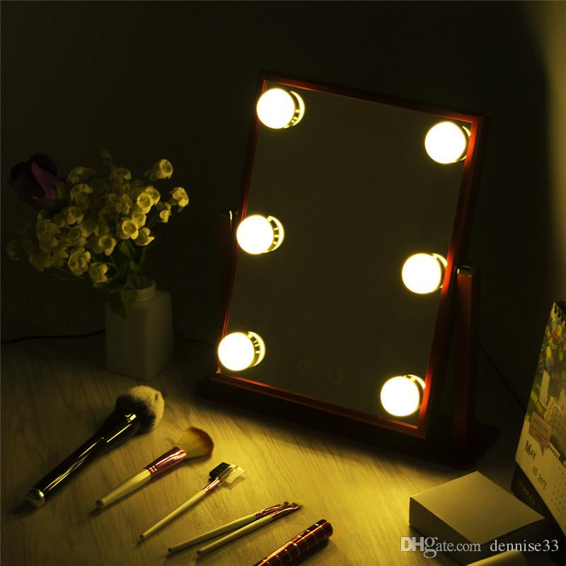 Hollywood Tabletops Makeup Lighted Mirror Vanity Light With Dimmer Metal Frame Stage Beauty Mirror With 6 Led Bulbs Standing Mirror Dressing Table Mirrors ... & Hollywood Tabletops Makeup Lighted Mirror Vanity Light With Dimmer ... azcodes.com