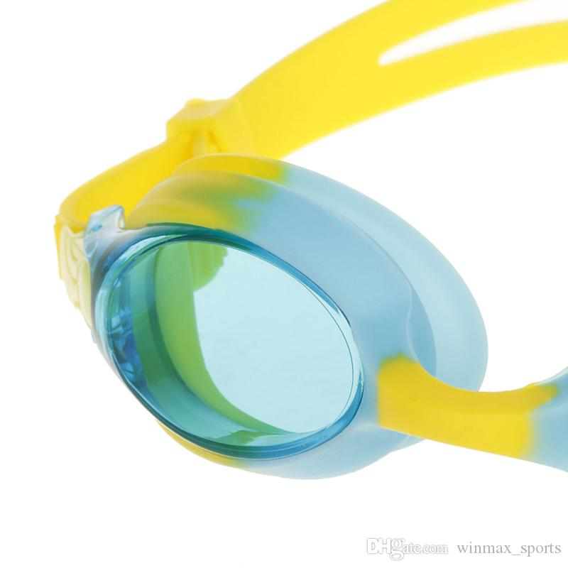 [وينمإكس ملون 100٪ U.V. والمضادة للضباب شاطئ وبركة سباحة Sunglesses نظارات السباحة للأطفال