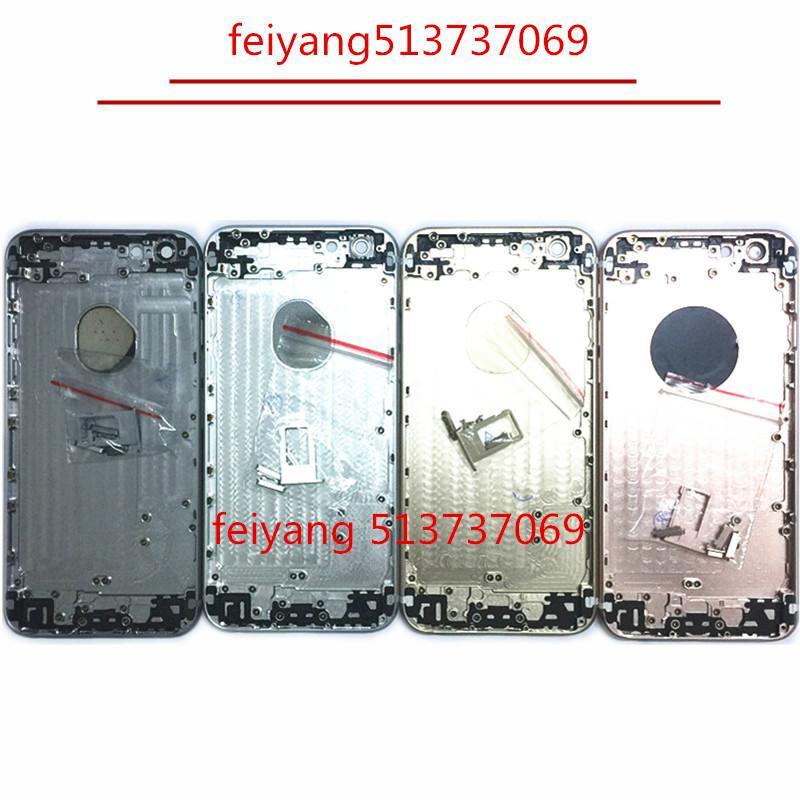10 adet Geri Arka Kapak Pil Konut Kapı Şasi Orta Çerçeve iPhone 6 6 s 6 plud 6 s artı arka kapak konut