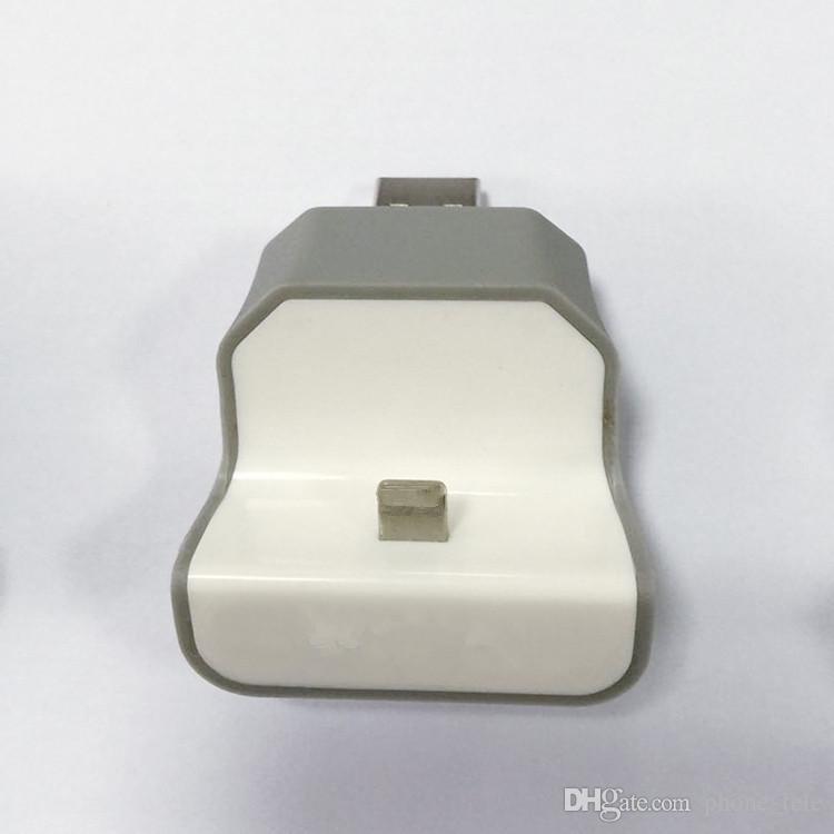 Cargador de pared USB Cable de fecha Soporte para teléfono inalámbrico Muelle de carga Soporte de montaje Cargadores de datos micro Adaptador para iphone 6 6s 7 más teléfono Android