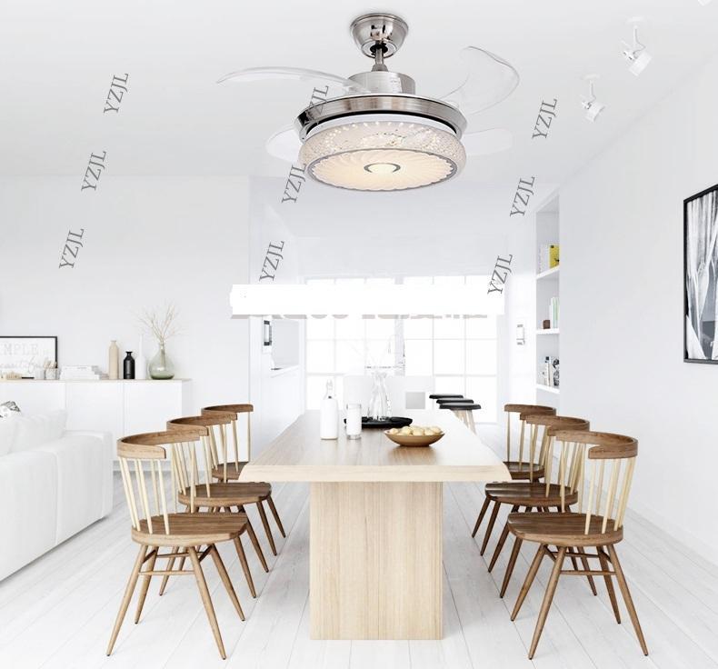 Светодиодные стелс дистанционного управления вентилятор потолочные светильники минимализм современная гостиная спальня столовая потолочный вентилятор с подсветкой 42inch