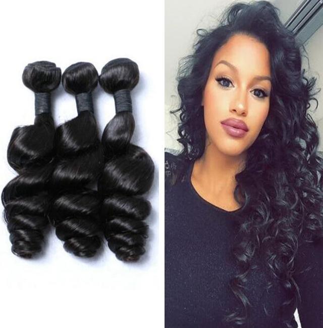 Brazilian Loose Wave Human Hair Extensions Aaaaaaa Loose Curly Hair