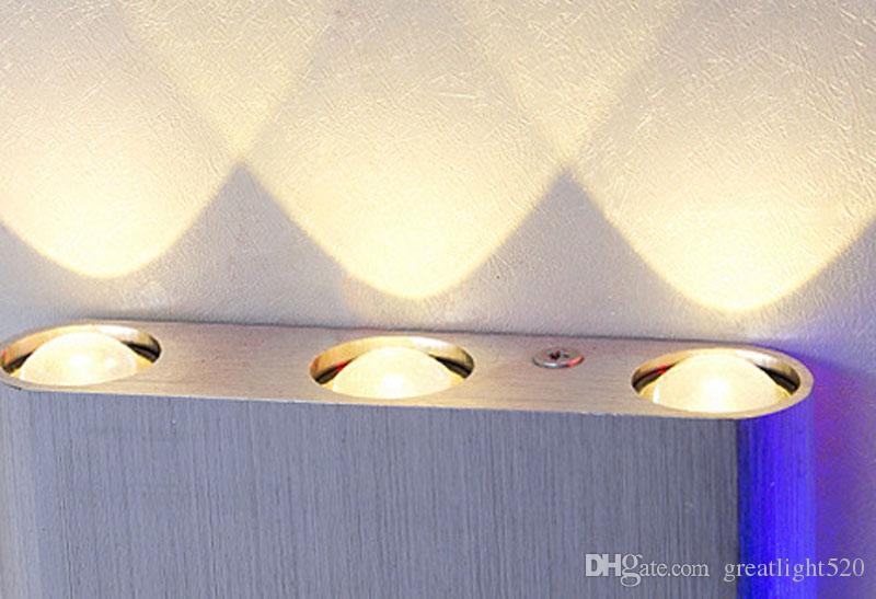 Modern 6W / 8W LED alumínio Up Down Light Parede com espalhamento de luz Projeto Luminárias Luminárias exteriores interior de parede exterior luz # 31